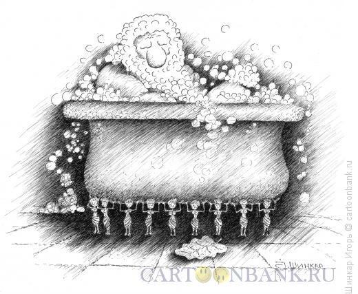 Карикатура: Архимед и кариатиды, Шинкар Игорь