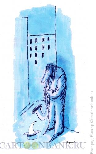 Карикатура: Ночная серенада, Богорад Виктор