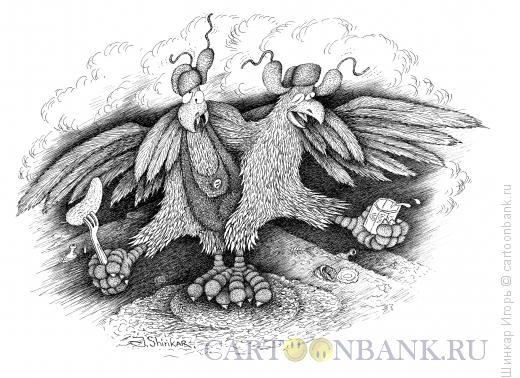Карикатура: Петухи, Шинкар Игорь