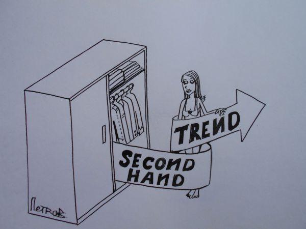 Карикатура: Trend second hand, петров Александр