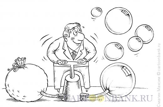 Карикатура: Деньги на воздух, Смагин Максим