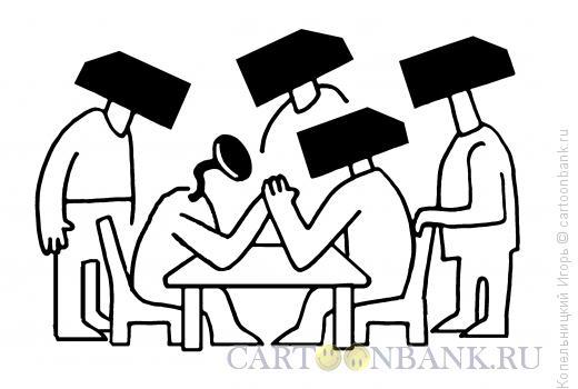 Карикатура: гвоздь и молотки, Копельницкий Игорь