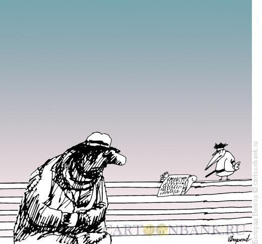 Карикатура: Бездомные, Богорад Виктор