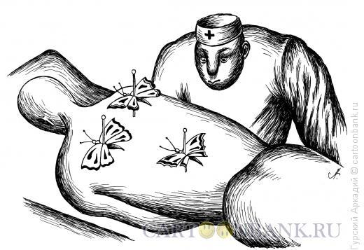 Карикатура: бабочки на спине, Гурский Аркадий