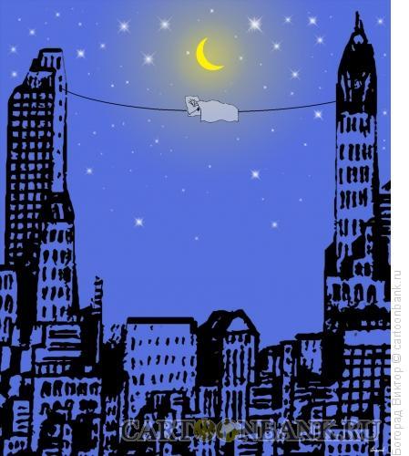 Карикатура: Сон в Нью-Йорке, Богорад Виктор