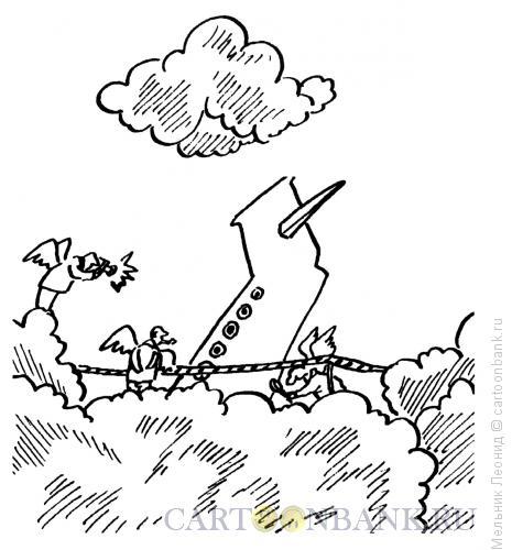 Карикатура: Небесное следствие, Мельник Леонид
