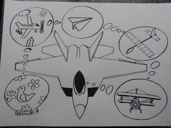 Карикатура: Лётчик, Петров Александр