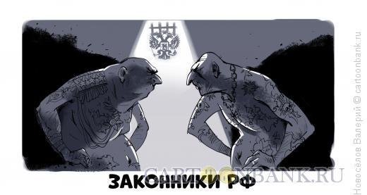 Карикатура: Законники РФ, Новосёлов Валерий