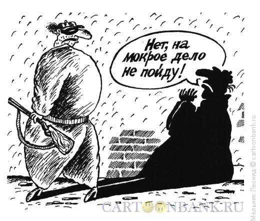 Карикатура: Разумная тень, Мельник Леонид
