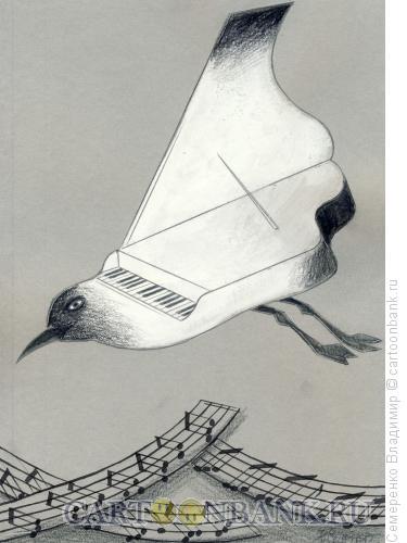 Карикатура: Белая чайка над черным морем, Семеренко Владимир
