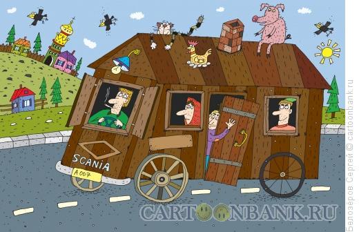 Карикатура: Автобус, Белозёров Сергей