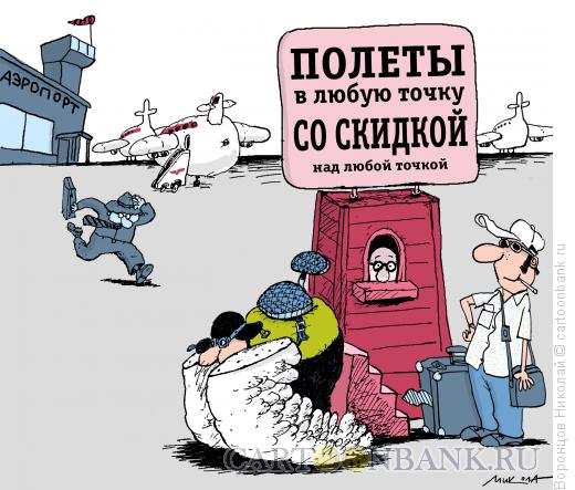 Карикатура: Аэропорт, Воронцов Николай