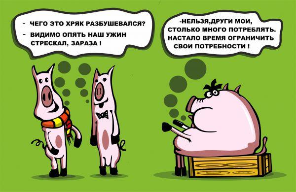 Карикатура: Порось, somnambula