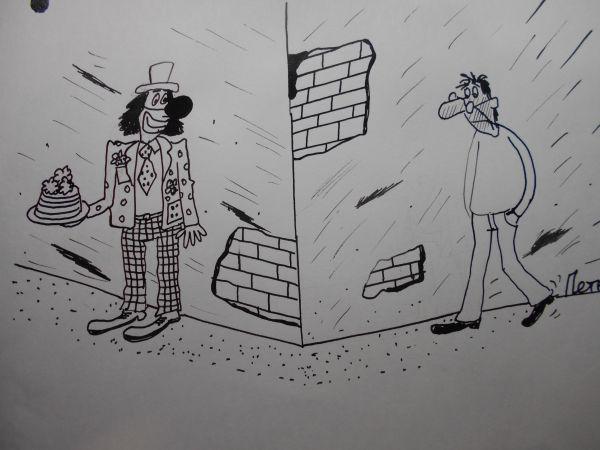 Карикатура: Из-за угла, Петров Александр