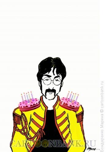 Карикатура: Леннон , День Рождения, Свечи, Бондаренко Марина