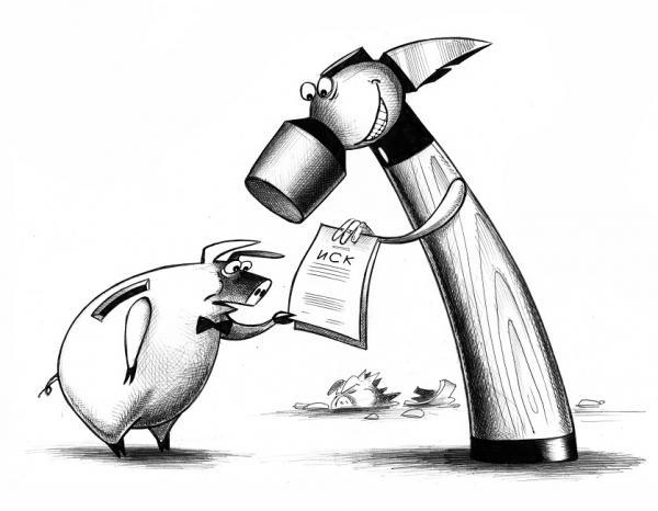 Карикатура: Иск, Сергей Корсун