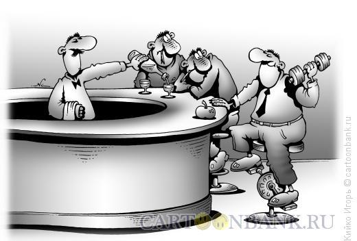 Карикатура: Спорсмен в баре, Кийко Игорь