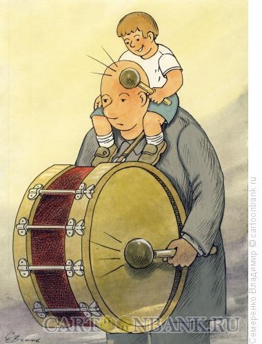 Карикатура: Дуэт ударников, Семеренко Владимир