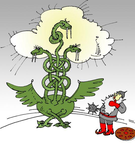 Карикатура: Макроме, Юрий Санников