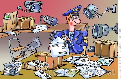 Карикатура: Контроль, Мельник Леонид