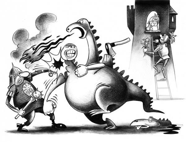 Карикатура: Без слов, Сергей Корсун