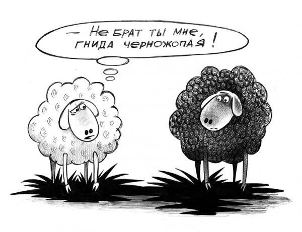 Карикатура: Не брат ты мне, Сергей Корсун