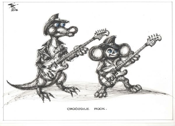 Карикатура: CROCODILE ROCK ., Юрий Косарев