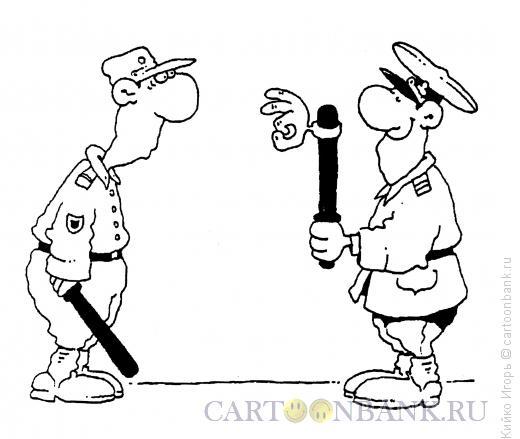 Карикатура: Дубинка-лайт, Кийко Игорь