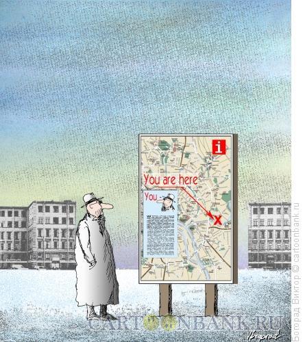 Карикатура: Информационный щит, Богорад Виктор