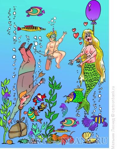 Карикатура: Несчастная любовь, Мельник Леонид