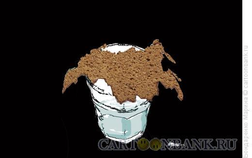 Карикатура: Хлеб и Водка, Бондаренко Марина