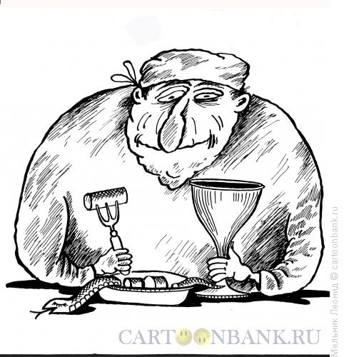 Карикатура: Закусывающий доктор, Мельник Леонид