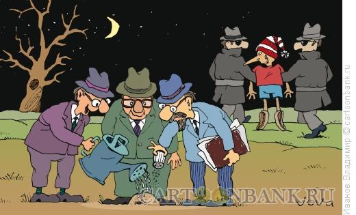 Карикатура: Чудеса на поле., Иванов Владимир