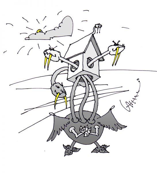 Карикатура: В тесноте да в не обиде, Юрий Санников