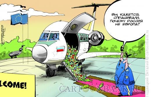 Карикатура: Из России с бутылкой, Подвицкий Виталий