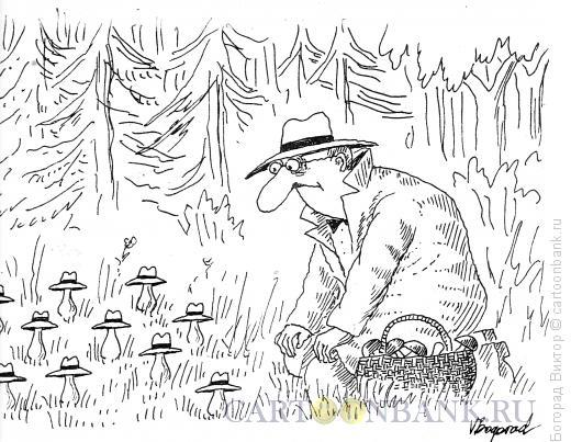 Карикатура: Грибник, Богорад Виктор