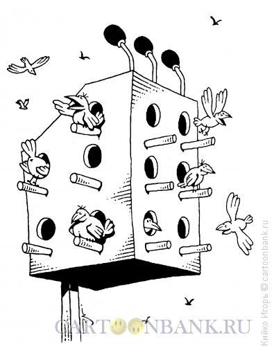 Карикатура: Скворечник-трибуна, Кийко Игорь