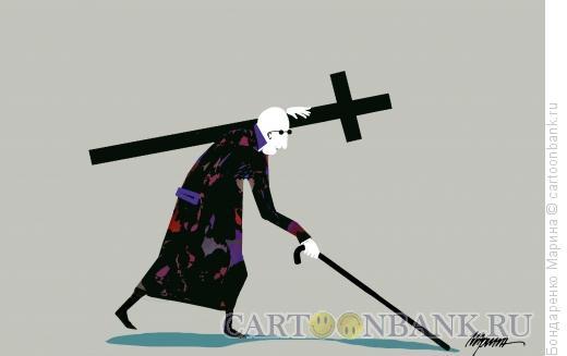 Карикатура: Крест Слепой, Бондаренко Марина