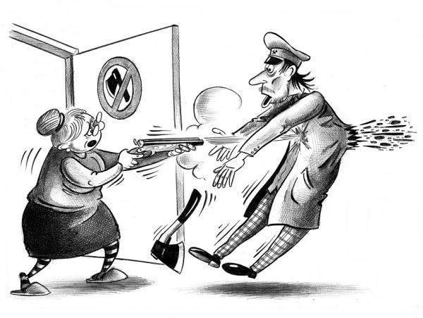 Карикатура: Преступление и наказание, Сергей Корсун