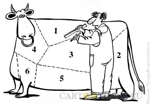 Карикатура: Разделка, Мельник Леонид