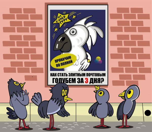 Карикатура: Попка-не дурак, somnambula