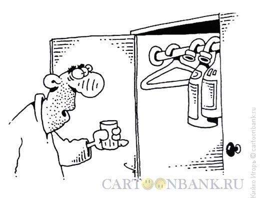 Карикатура: Вешалка, Кийко Игорь
