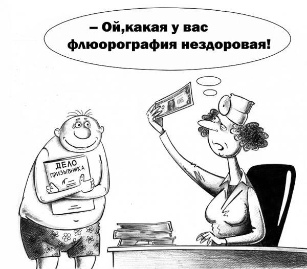 Карикатура: Флюорография, Сергей Корсун
