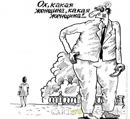 Карикатура: Восхищение, Мельник Леонид