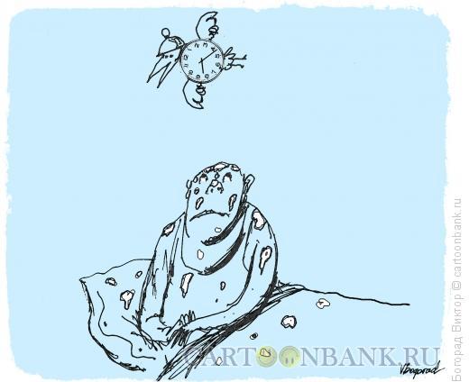 Карикатура: Летающий будильник, Богорад Виктор