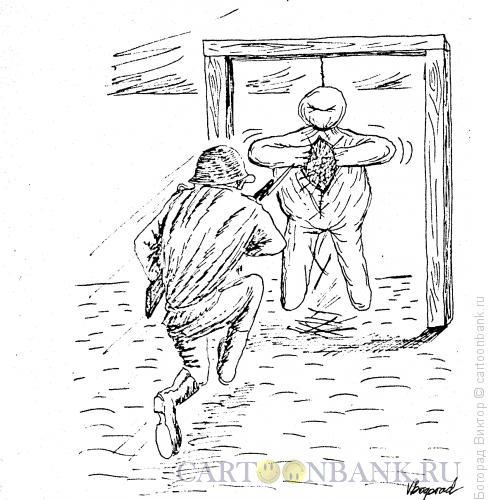 Карикатура: Чучело на плацу, Богорад Виктор