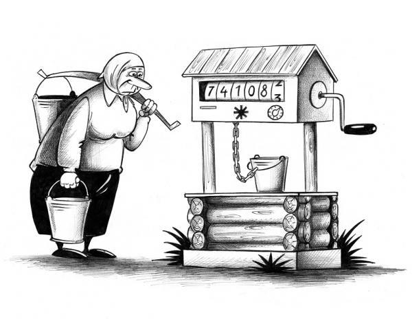 Карикатура: Счётчик, Сергей Корсун