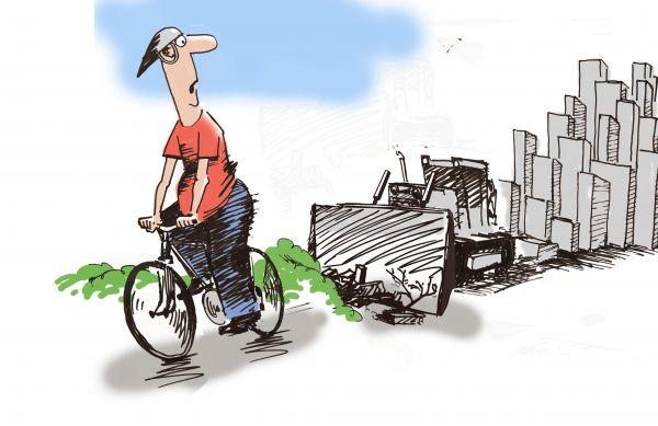Карикатура: Алчный застройщик.
