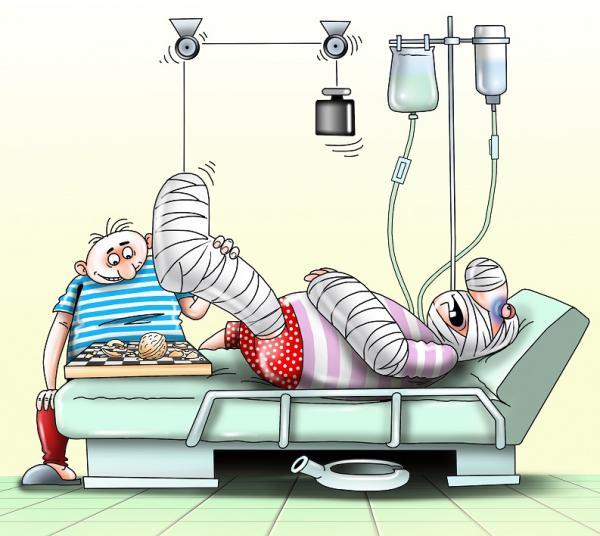 Карикатура: В больнице, Сергей Корсун