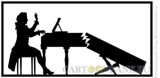 Карикатура: моцарт у рояля, Копельницкий Игорь